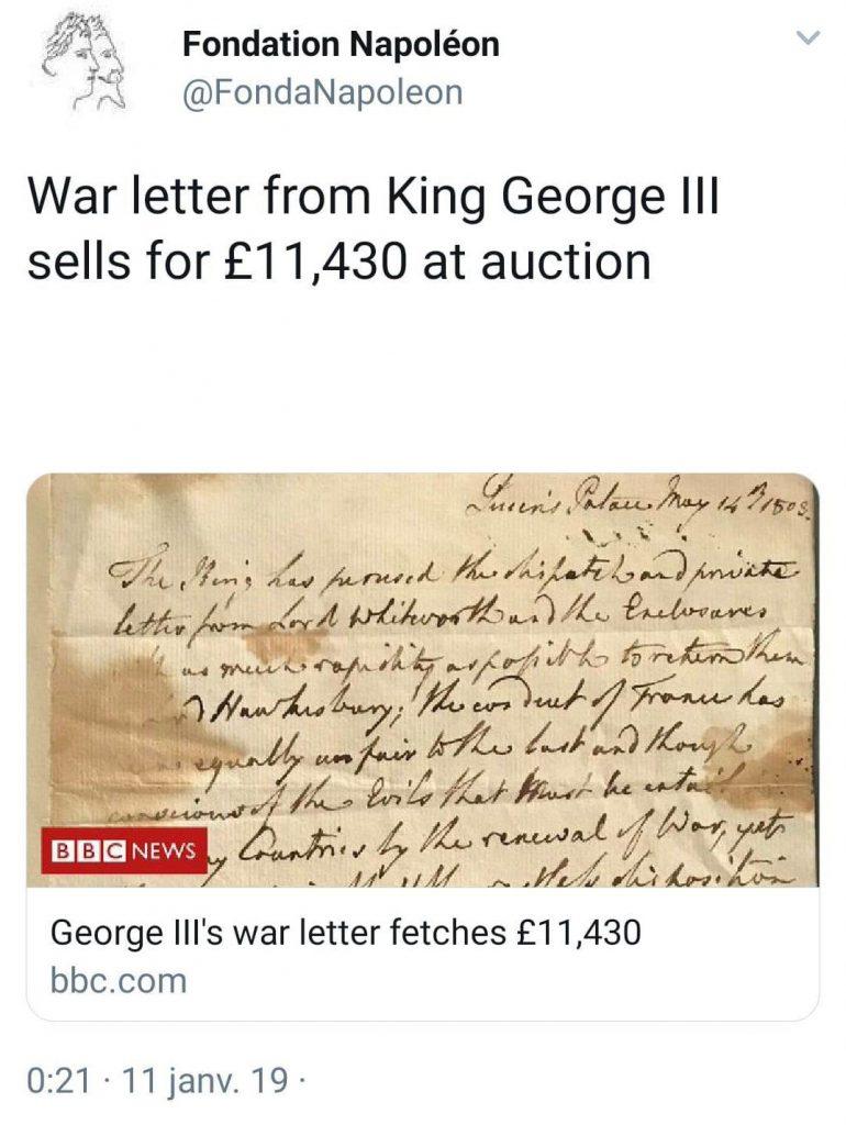 George III–Bonaparte–Lentz