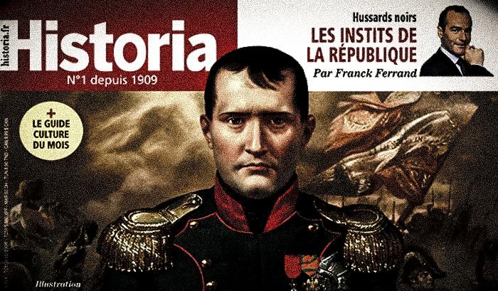 Le magazine historia parle de Napoléon mais pas de George III.